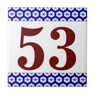 Number Tile honycomb border