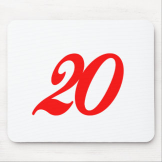 Number Twenty 20th Birthday Gifts Mousepad
