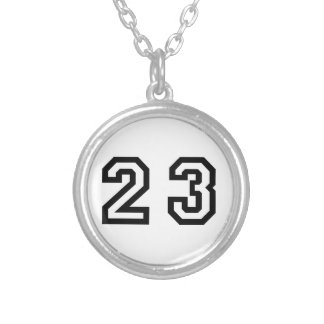 Number Twenty Three Silver Plated Necklace