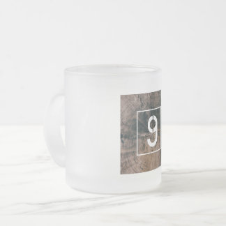 """Numbered """"9"""" Frosted Mug"""