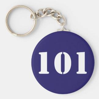 Numbered Chaveiro Basic Round Button Key Ring