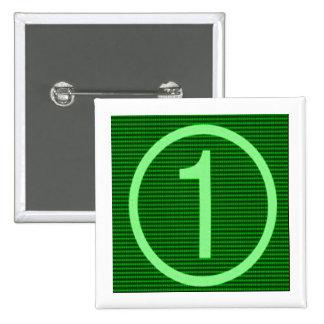 NumberONE Green Marathon 15 Cm Square Badge