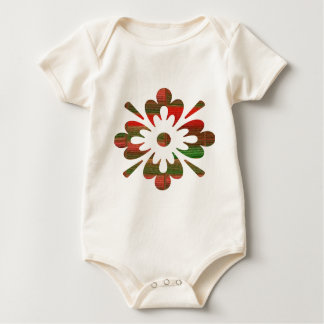 NumberONE Jewel YinYang Flower Decorations Baby Bodysuit