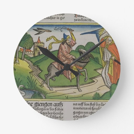 Numbers 22 20-35 Balaam's talking ass, from the 'N Round Wall Clock