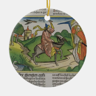 Numbers 22 20-35 Balaam's talking ass, from the 'N Christmas Ornaments
