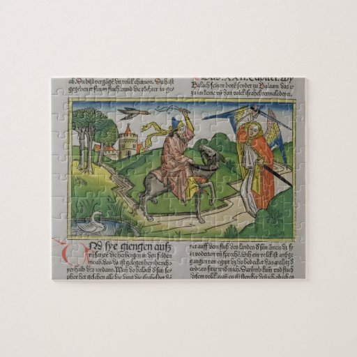 Numbers 22 20-35 Balaam's talking ass, from the 'N Jigsaw Puzzles