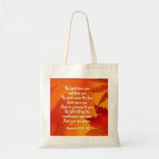 Numbers 6:24-26 The Lord Bless You, Fall Leaves Tote Bag