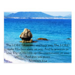 Numbers 6:24 UPLIFTING BIBLE VERSE with cross Postcards