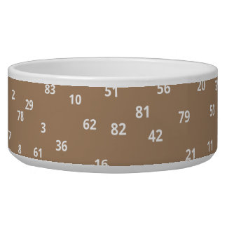 Numbers / Large Pet Bowl
