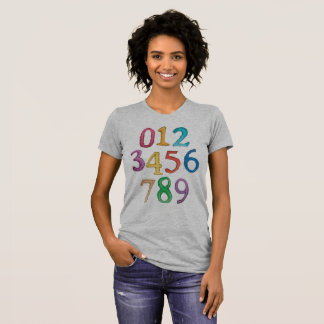 Numbers To Nine Womens T-Shirt