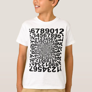 Numbers Vortex, counting whirlpool, math T-Shirt