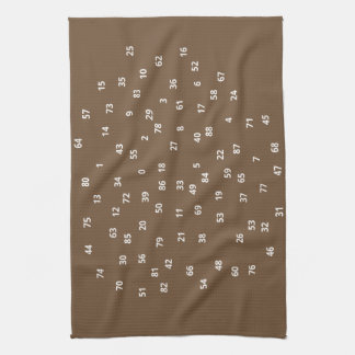 Numbers (+white/s) Kitchen towel