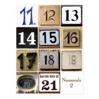 Numerals 2 postcard