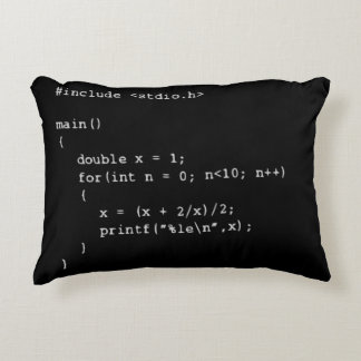 Numerical Programming Decorative Cushion