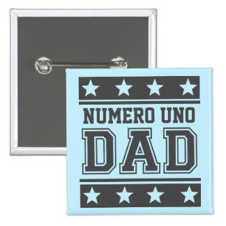 Numero Uno Dad 15 Cm Square Badge