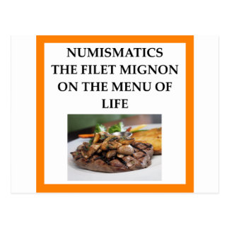NUMISMATICS POSTCARD