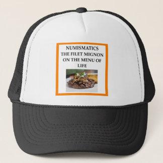 NUMISMATICS TRUCKER HAT