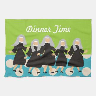 "Nun Art Kitchen Towel ""Dinner Time"""