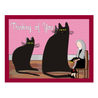 "Nun Greeting Cards & Totes ""Thinking of You"" Postcard"