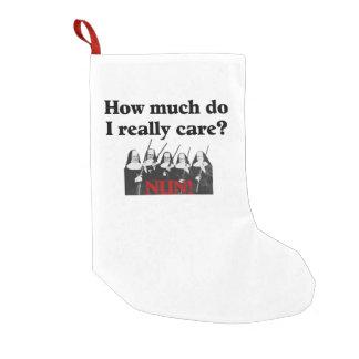 Nun I don't Really Care Small Christmas Stocking