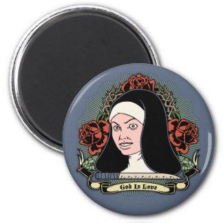 Nun is Love 6 Cm Round Magnet