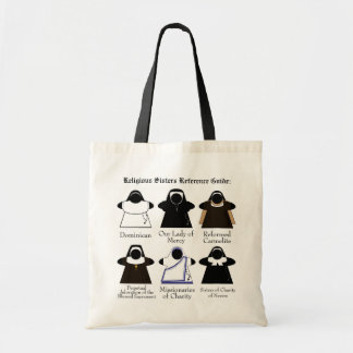 Nun Reference Guide Catholic Meeple tote bag