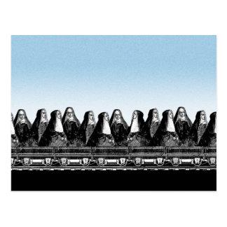 Nun Train Postcard