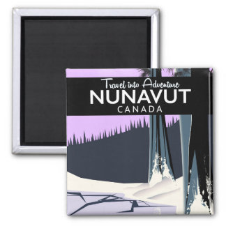Nunavut Canada Travel poster Magnet