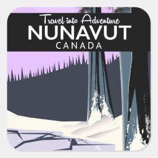 Nunavut Canada Travel poster Square Sticker