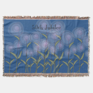 Nuns 50th Golden Jubilee Woven Blanket Floral