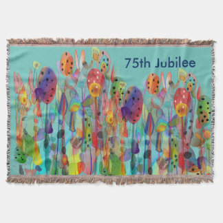 Nuns 75th Diamond Jubilee Woven Blanket Floral #6