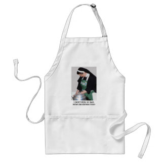 NUNS DO DISHES TOO STANDARD APRON
