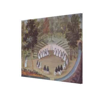 Nuns Meeting in Solitude Canvas Print