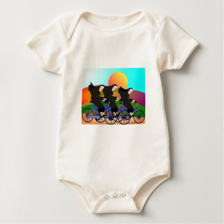 Nuns on Bicycles Art Gifts Baby Bodysuit