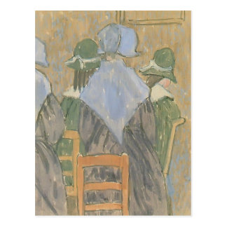 Nuns & schoolgirls standing in church by Gwen John Postcard