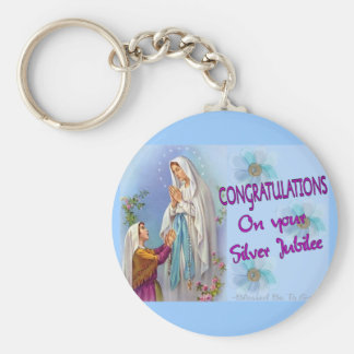 Nuns Silver Jubilee Gifts and Cards Basic Round Button Key Ring