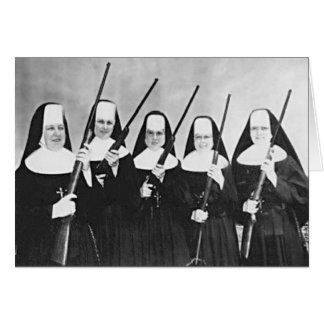 Nuns With Guns Greeting Card