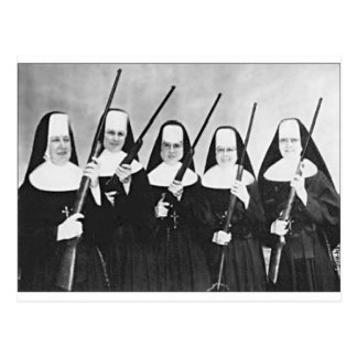 Nuns With Guns Postcard