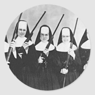 Nuns With Guns Round Sticker