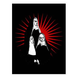 Nuns with Starburst Postcard