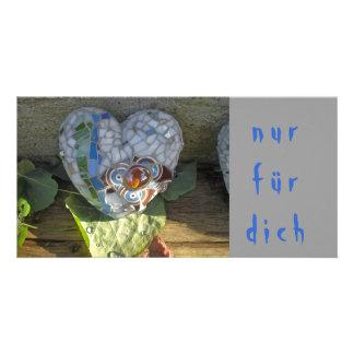 nur für dich_karte_mosaikherz custom photo card