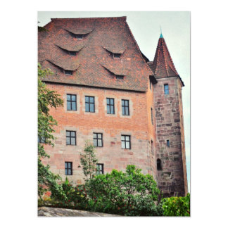 Nuremberg  architecture 17 cm x 22 cm invitation card