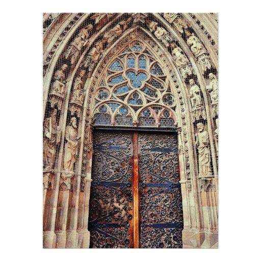 Nuremberg church door personalized announcement