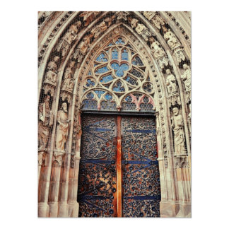 Nuremberg church door 17 cm x 22 cm invitation card