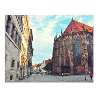 Nuremberg church postcard