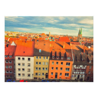 Nuremberg colorful buildings personalized invitation