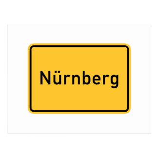 Nuremberg, Germany Road Sign Postcard