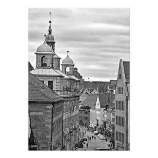Nuremberg. The Rathausplatz and the Old Town Hall Photo Print