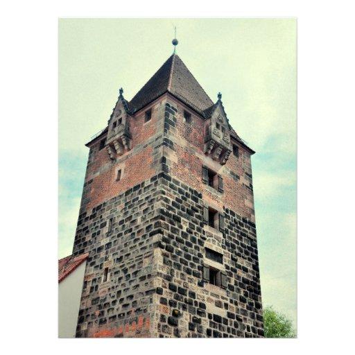 Nuremberg tower custom invites