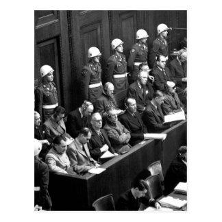 Nuremberg Trials.  Looking down on_War Image Postcard
